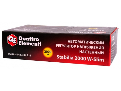 Стабилизатор напряжения Quattro Elementi Stabilia 2000 W-Slim, вид 4