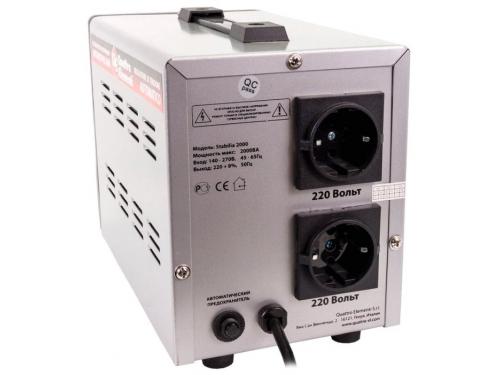 Стабилизатор напряжения Quattro Elementi Stabilia 2000 (2 кВт), вид 3