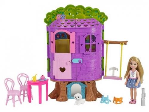 Кукла Игровой набор Barbie Домик на дереве Челси, вид 2