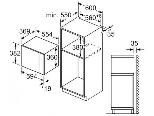 Микроволновая печь Bosch  BFL554MW0, белая, вид 3