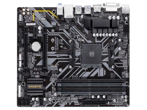 Материнская плата Gigabyte B450M DS3H Soc-AM4, AMD, mATX, DDR4, SATA3, USB 3.0, вид 2