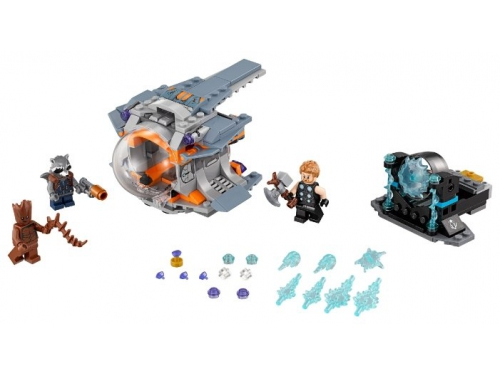 Конструктор LEGO Marvel Super Heroes AVENGERS infinity wars 76102 В поисках оружия Тора, вид 2