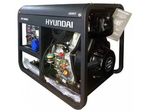 Электрогенератор Hyundai DHY-8500 LE, дизельная, вид 1