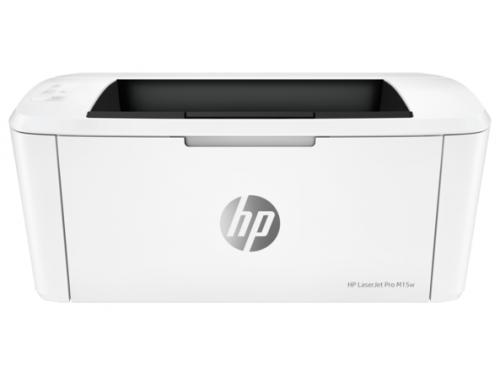Принтер лазерный ч/б HP LaserJet Pro M15w (настольный), вид 2