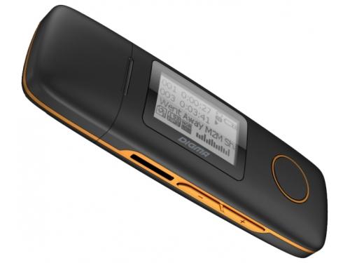Медиаплеер Digma U3 4Gb, черный/оранжевый, вид 2