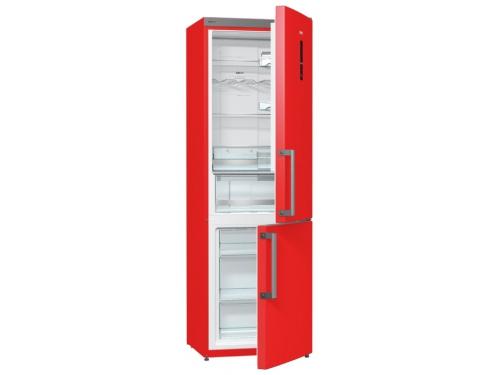 Холодильник Gorenje NRK6192MRD, красный, вид 1