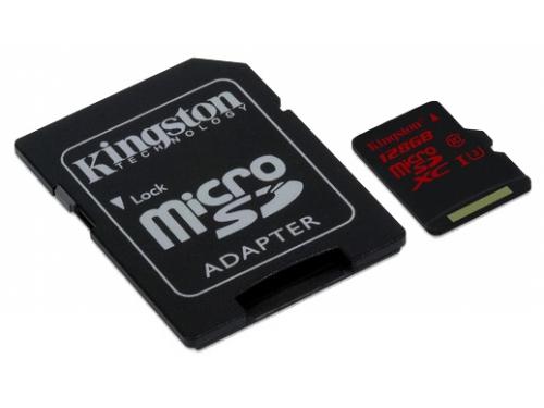 Карта памяти Kingston SDCA3/128GB ( R/W 90/80, с адаптером), вид 2