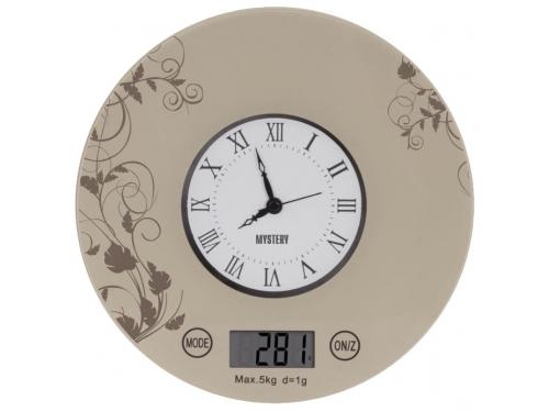 Кухонные весы Mystery MES-1818, бежевые, вид 1