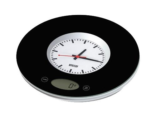 Кухонные весы Mystery MES-1814, черные, вид 1