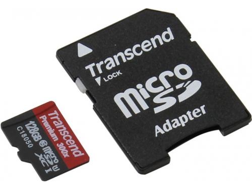 Карта памяти Transcend TS128GUSDU1 + adapter, вид 1