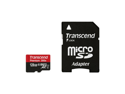 Карта памяти Transcend TS128GUSDU1 + adapter, вид 2