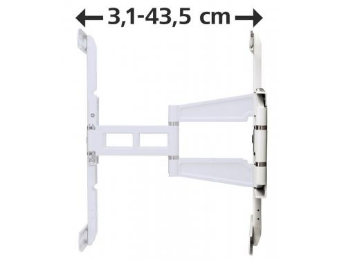 Кронштейн Hama H-108759 (37-70'', до 35 кг, наклон, поворот), белый, вид 6