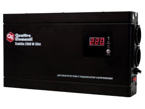 Стабилизатор напряжения Quattro Elementi Stabilia 2000 W-Slim, вид 1