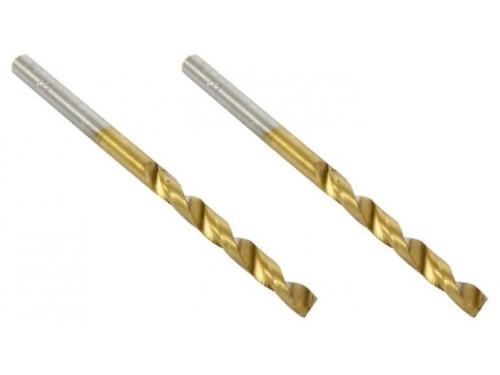Сверло Hammer Flex 202-105 DR MT 3x61/33мм металл, DIN338, HSS-G, TIN, (2 шт.), вид 1