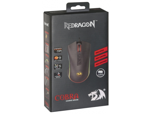Мышь Redragon USB LASER COBRA RGB (75054), вид 24