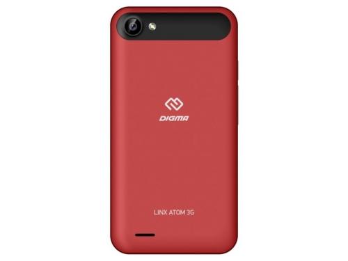 Смартфон Digma Atom 3G Linx 512/4Gb, красный, вид 2