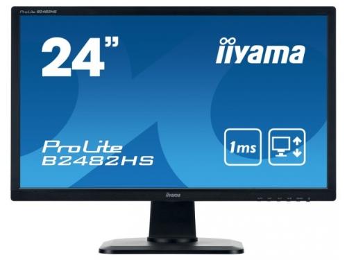 Монитор Iiyama B2482HS-B1, черный, вид 2