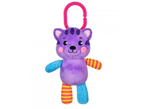 Игрушка для малыша подвеска-погремушка Жирафики Котик 939523 (с вибрацией), фиолетовый, вид 2