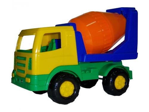 Игрушка Автомобиль-бетоновоз Полесье Мираж, синий/оранжевый, вид 1