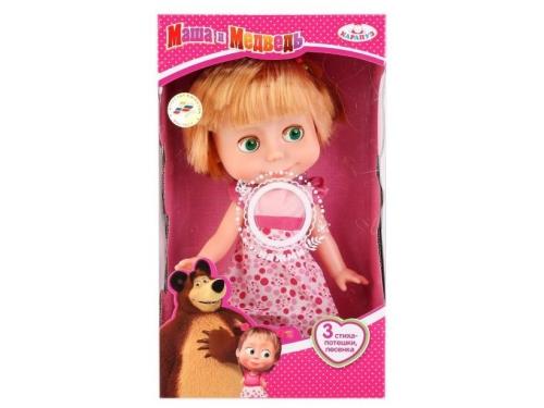 Кукла Карапуз Маша и Медведь. Серия День Рождения 25 см 83033A (на батарейках), вид 1