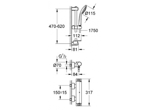 ��������� ��� ���� Grohe Grohtherm-2000 34195 (� ������� ����������), ��� 2