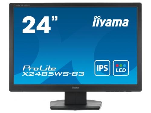 Монитор Iiyama X2485WS-B3, черный, вид 2