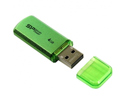 Usb-флешка Silicon Power Helios 101 4Gb, зеленая, вид 1