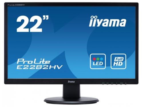 Монитор Iiyama E2282HV-B1, чёрный, вид 1