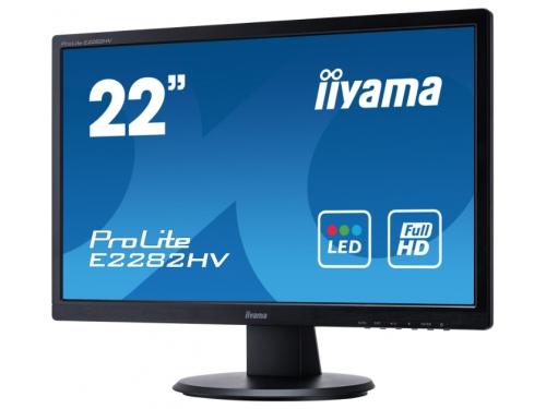 Монитор Iiyama E2282HV-B1, чёрный, вид 2