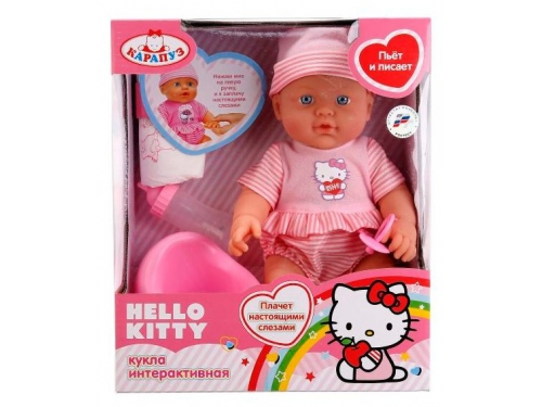 Кукла Карапуз Hello Kitty, 4 функции (W21309A-Hello Kitty) 30см, вид 1