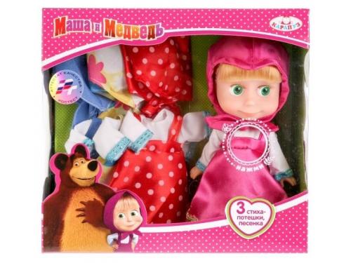 Кукла Карапуз Маша и Медведь, 3 комплекта одежды  (83032X) 15см, вид 1