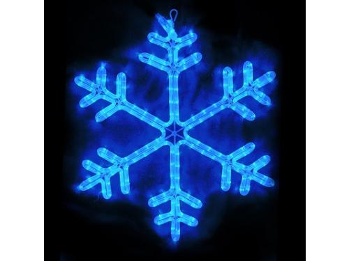 Новогоднее украшение Фигура Торг-Хаус LED Снежинка синяя 60х60 см, вид 1