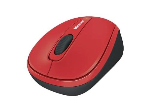 Мышь Microsoft Wireless Mobile Mouse 3500 USB, красная, вид 1