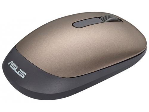 Мышь Asus WT205 USB золотистая, вид 2