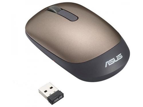Мышь Asus WT205 USB золотистая, вид 4