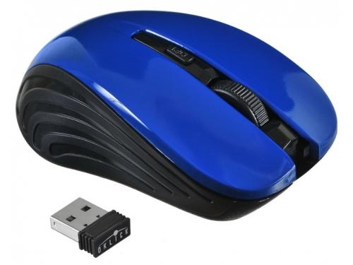Мышь Oklick 545MW черная/синяя, вид 1