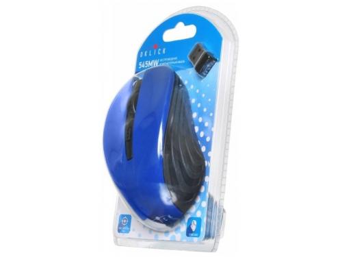 Мышь Oklick 545MW черная/синяя, вид 5