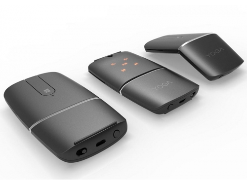 Мышь Lenovo Yoga Mouse (Bluetooth + радиоканал, встроенный презентер), черная, вид 2
