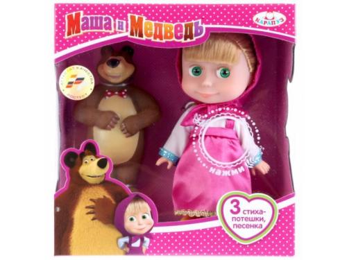 Кукла озвученная Карапуз Маша и Медведь Маша с мишкой, 15 см, 83031X (24), вид 1