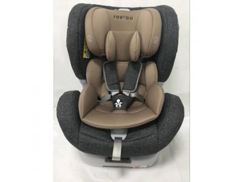 Автокресло детское Torego JM05 IsoFix 0-1-2 (0-25 кг), серое/лен, вид 1