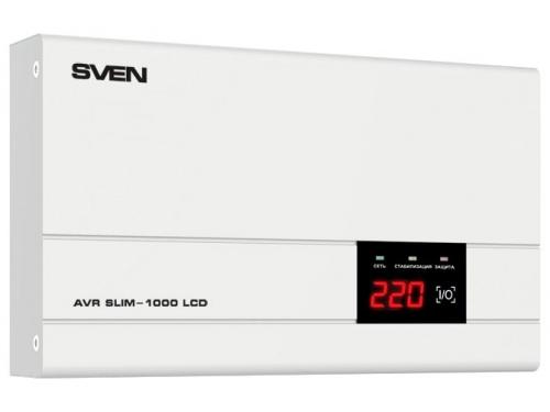 Стабилизатор напряжения Sven AVR Slim 1000 (релейный), вид 2