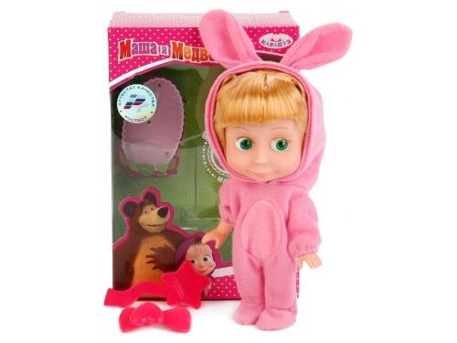Кукла интерактивная Карапуз Маша и Медведь Маша, в костюме зайца, 15 см, 83030EAS (30), вид 1