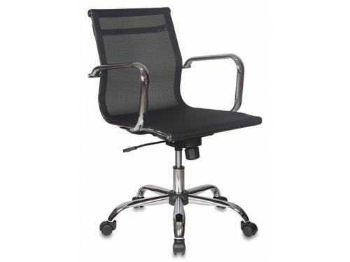 Компьютерное кресло Бюрократ CH-993-LOW/M01, низкая спинка, черное, вид 1