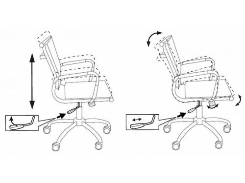 Компьютерное кресло Бюрократ CH-993-LOW/M01, низкая спинка, черное, вид 6