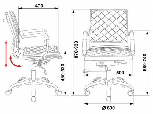 Компьютерное кресло Бюрократ CH-991-Low/Ivory, слоновой кости, вид 6