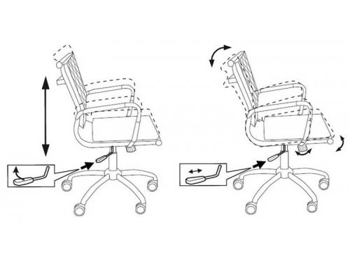 Компьютерное кресло Бюрократ CH-991-Low/Ivory, слоновой кости, вид 4