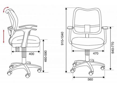 Компьютерное кресло Бюрократ CH-W797/BR/TW-14C, коричневое, вид 3