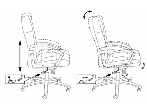 Компьютерное кресло Бюрократ(T-9908AXSN/MF103)мокко, вид 3