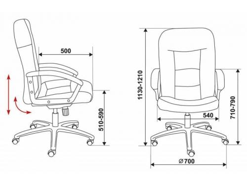 Компьютерное кресло Бюрократ(T-9908AXSN/MF103)мокко, вид 5