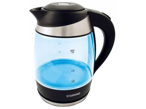 Чайник электрический Starwind SKG2218, голубой/черный, вид 1